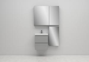 Set mobilier cu lavoar Cersanit Moduo Slim, 50 cm, DSM, diverse culori