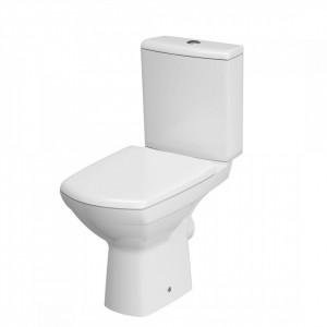 Set wc stativ compact Cersanit Carina CleanOn cu rezervor si capac soft close