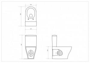 schita tehnica vas wc cleanon urban harmony cersanit montaj stativ