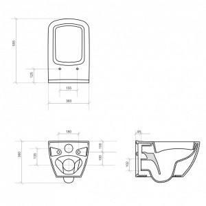 K38-014 schita tehnica metropolitan cersanit cleanon