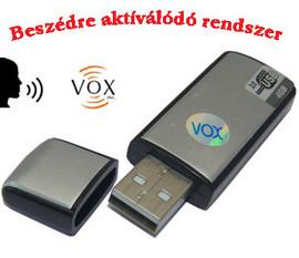 USB hangrögzítő, diktafon (Hangra aktiválódó) kép