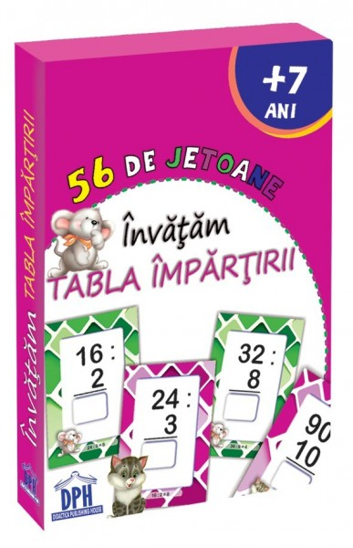 56 de jetoane: Invatam Tabla Impartirii