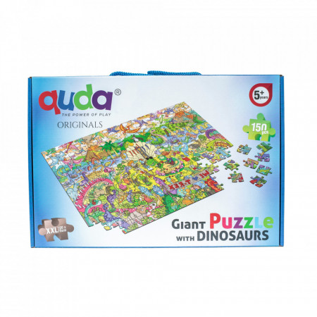 Puzzle gigant de colorat cu dinozauri