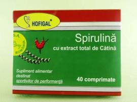 Spirulina cu extract total de catina HOFIGAL (40 de comprimate)