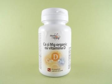 Ca si Mg organic cu vitamina D  DACIA PLANT (60 de comprimate)