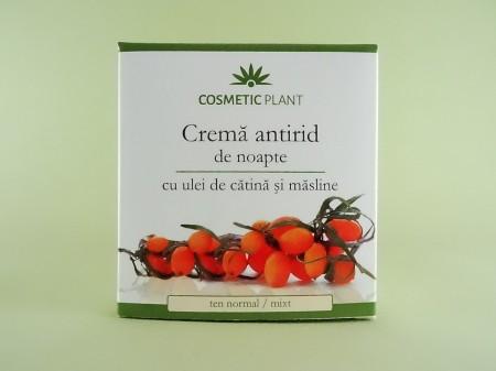 Crema antirid de noapte cu ulei de catina si masline COSMETIC PLANT
