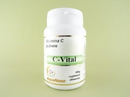 C-Vital vitamina C pulbere Aqua Nano AGHORAS INVENT (100 g)