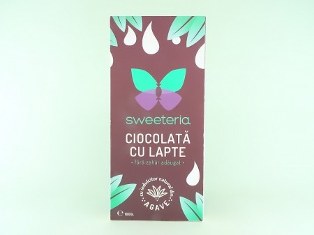 Ciocolata cu lapte fara zahar SWEETERIA