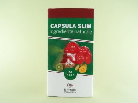 Capsula slim slabit 30cps - British pharma, pret 98,0 lei - Mangosteen pulbere în România