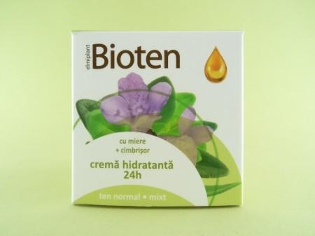 Crema hidratanta 24h cu miere si cimbrisor pentru ten normal si mix BIOTEN (50 ml)
