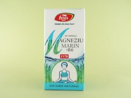Magneziu marin + B6   FARES  (30 de capsule)