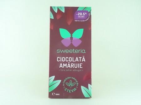 Ciocolata amaruie 70% fara zahar SWEETERIA