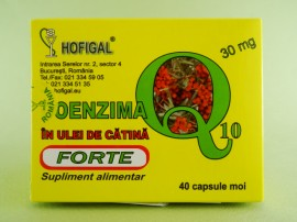 Coenzima Q10 forte în ulei de catina 30 mg HOFIGAL