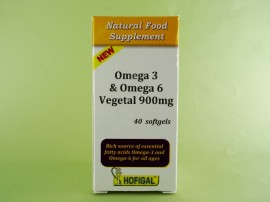 Omega 3 & Omega 6 Vegetal 900 mg HOFIGAL