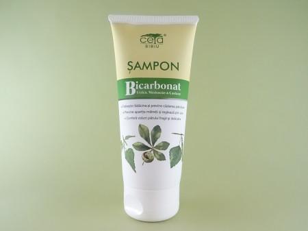 Sampon cu bicarbonat, extract de urzica, mesteacan si castane   CETA SIBIU   (200 ml)