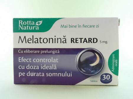 Melatonina retard 5 mg cu eliberare prelungita  ROTTA NATURA