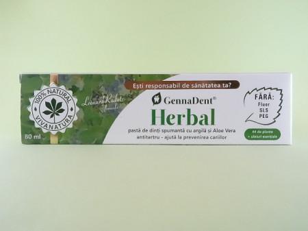 Pasta de dinti GennaDent Herbal VIVANATURA