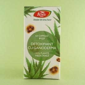 Detoxifiant cu ganoderma FARES (63 de capsule)