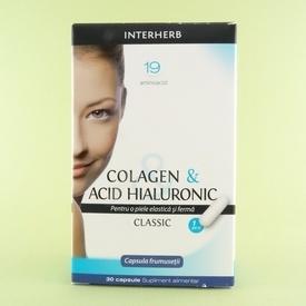 Colagen & acid hialuronic  BGB INTERHERB (30 de capsule)