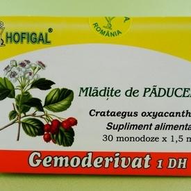 Mlădite de paducel - gemoderivat HOFIGAL (30 de monodoze x 1,5 ml)