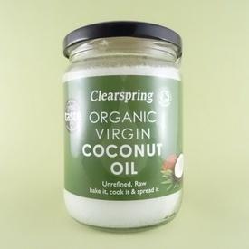 Ulei de cocos virgin organic CLEARSPRING (400 g)