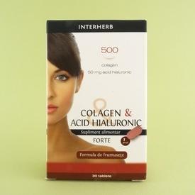 Colagen & Acid hialuronic Forte  BGB INTERHERB (30 de tablete)