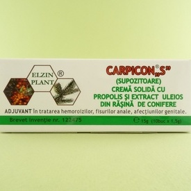 Carpicon S    ELZIN PLANT (10 supozitoare x 1,5 g)