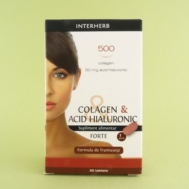 Colagen & Acid hialuronic Forte BGB INTERHERB (30 de tablete)