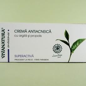 Crema antiacneica Superactiva cu argila si propolis VIVANATURA (20 ml)
