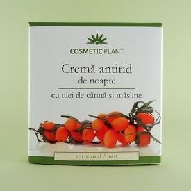 Crema antirid de noapte cu ulei de catina si masline COSMETIC PLANT (50 ml)