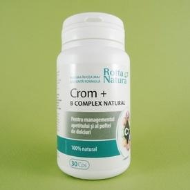 Crom + B Complex natural ROTTA NATURA (30 de capsule)