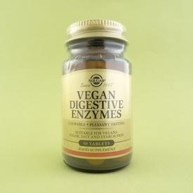 Enzime digestive pentru vegani  SOLGAR (50 de tablete)