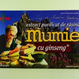 Extract purificat de rasina Mumie cu radacina de ginseng DAMAR (60 de tablete)