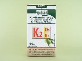 JutaVit Vitamine K2, D3, K1 (60 capsule moi)