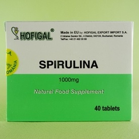 Spirulină 1000 mg HOFIGAL (40 de tablete)