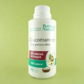 Glucomannan fibre pentru slabit ROTTA NATURA (90 de capsule)