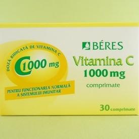 Vitamina C 1000 mg BERES PHARMACEUTICALS CO (30 de comprimate)