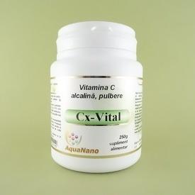 Cx-Vital vitamina C alcalina (tamponata) pulbere  Aqua Nano    AGHORAS INVENT (250 g)