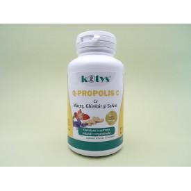 Q-propolis C cu maces, ghimbir si salvie KOTYS (60 comprimate masticabile)