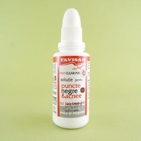 Solutie pentru puncte negre & acnee FAVISAN (30 ml)