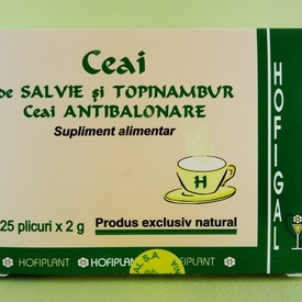 Ceai de salvie si topinambur. Ceai antibalonare HOFIGAL (25 de plicuri x 2 g)