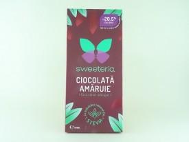 Ciocolata amaruie 70% fara zahar SWEETERIA (100 g)