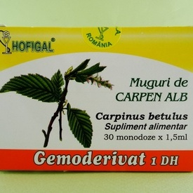 Muguri de carpen alb - gemoderivat HOFIGAL (30 de monodoze x 1,5 ml)