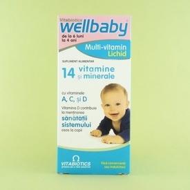 Wellbaby Multivitamine pentru sugari si copii sirop  VITABIOTICS  (150 ml)