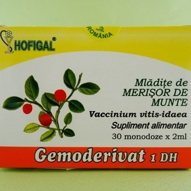 Mladite de merisor de munte - gemoderivat HOFIGAL (30 de monodoze x 2 ml)