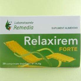 Relaxirem Forte   LABORATOARELE  REMEDIA  (30 de comprimate drajefiate)