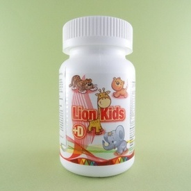 Lion Kids + D   (90 de tablete masticabile)