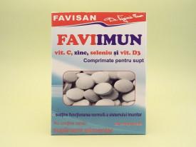 FAVIIMUN Vitamina C, zinc, seleniu si vitamina D3 comprimate pentru supt FAVISAN