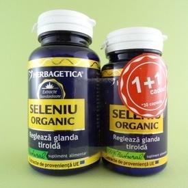 Seleniu organic  HERBAGETICA (60 +30 de capsule)