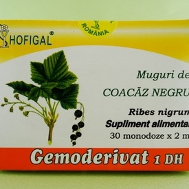 Muguri de coacaz negru - gemoderivat HOFIGAL (30 de monodoze x 2 ml)